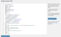 Simple Custom CSS Download Free WordPress Plugin