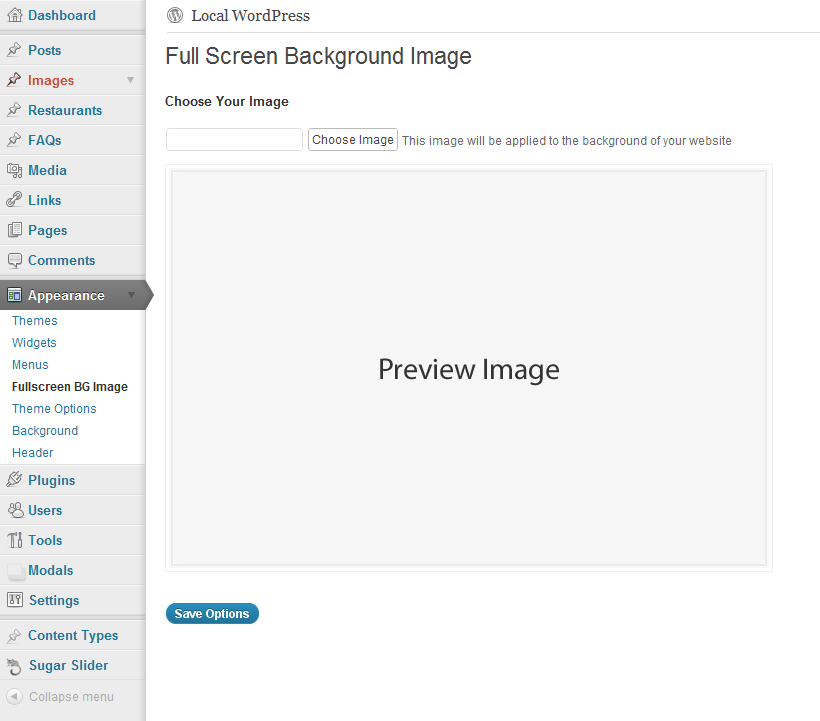 Simple Full Screen Background Image Download Free Wordpress Plugin 5