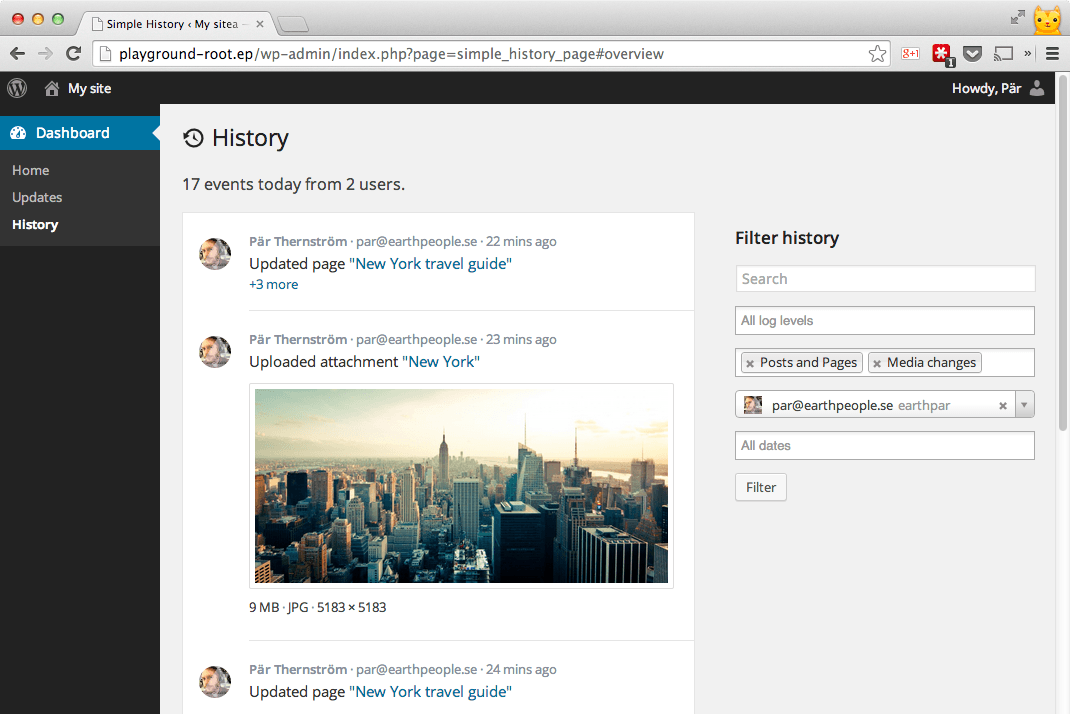 Simple History Download Free Wordpress Plugin 3