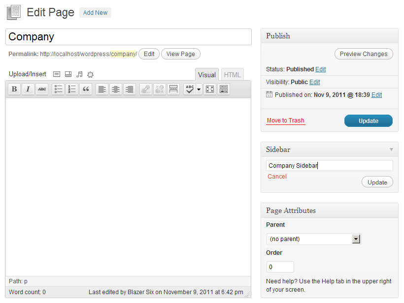 Simple Page Sidebars Download Free Wordpress Plugin 1
