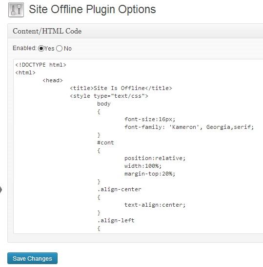 Site Offline or Coming Soon Download Free Wordpress Plugin 1