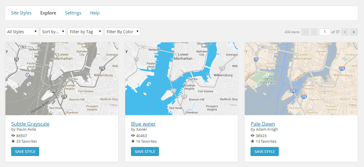 Snazzy Maps Download Free Wordpress Plugin 3