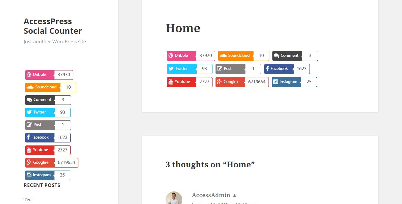 Social Counter for WordPress – AccessPress Social Counter Download Free Wordpress Plugin 2