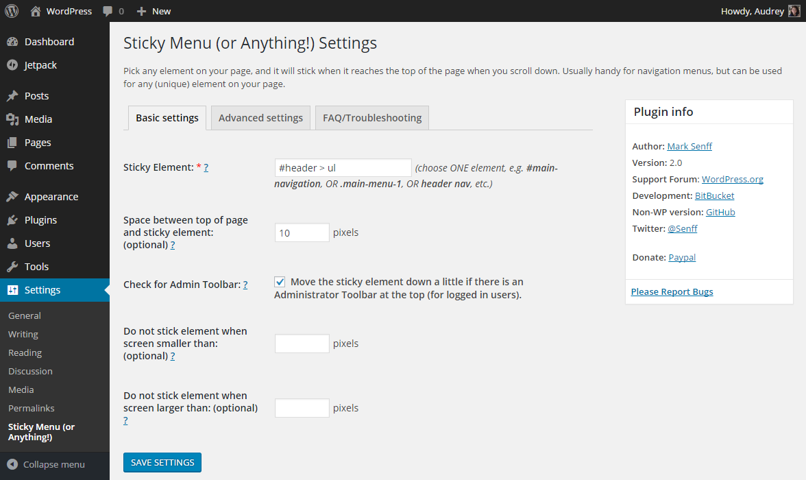 Sticky Menu (or Anything!) on Scroll Download Free Wordpress Plugin 5