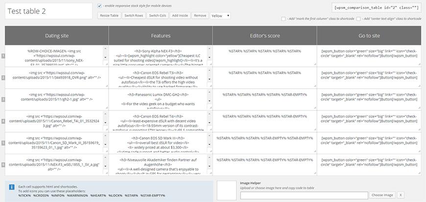 Table Maker Download Free Wordpress Plugin 3
