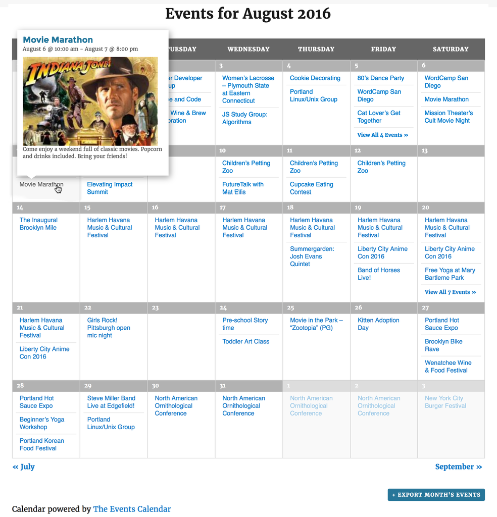 The Events Calendar Download Free WordPress Plugin