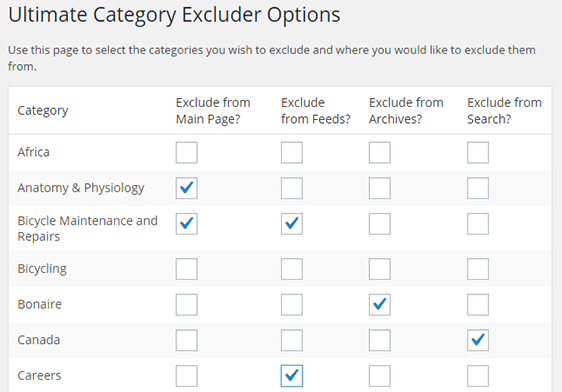 Ultimate Category Excluder Download Free Wordpress Plugin 1