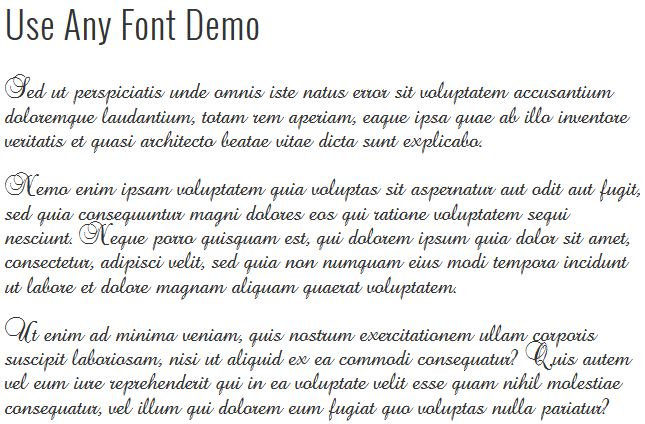 Use Any Font [ Freemium ] Download Free Wordpress Plugin 1