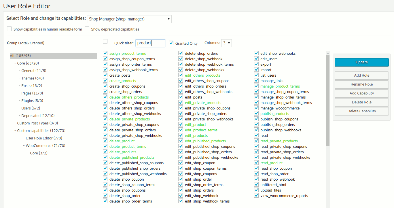 User Role Editor Download Free Wordpress Plugin 3