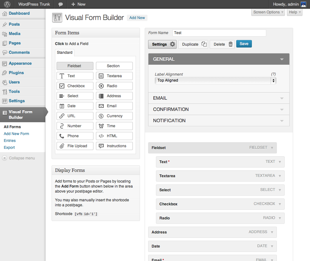 Visual Form Builder Download Free Wordpress Plugin 3