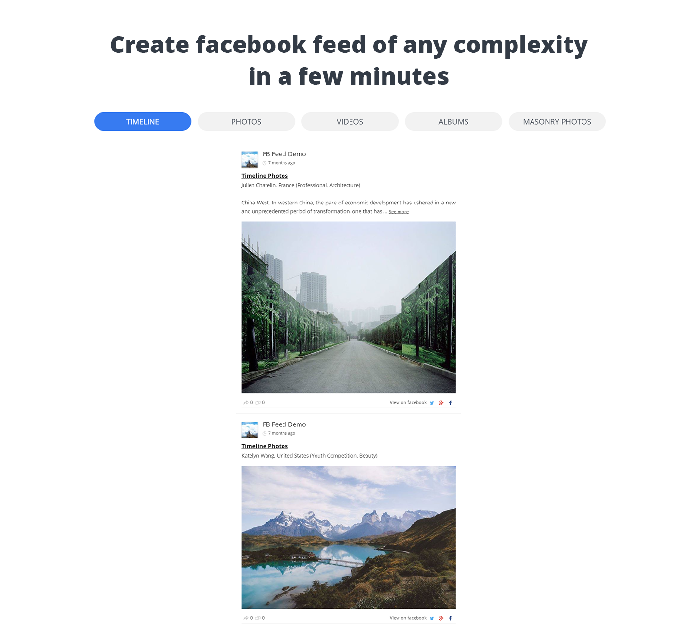 WD Facebook Feed – Custom Facebook Feed Plugin Download Free Wordpress Plugin 2