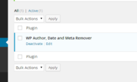WP Author, Date and Meta Remover Download Free WordPress Plugin