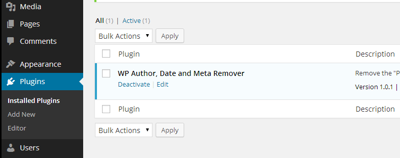 WP Author, Date and Meta Remover Download Free Wordpress Plugin 4