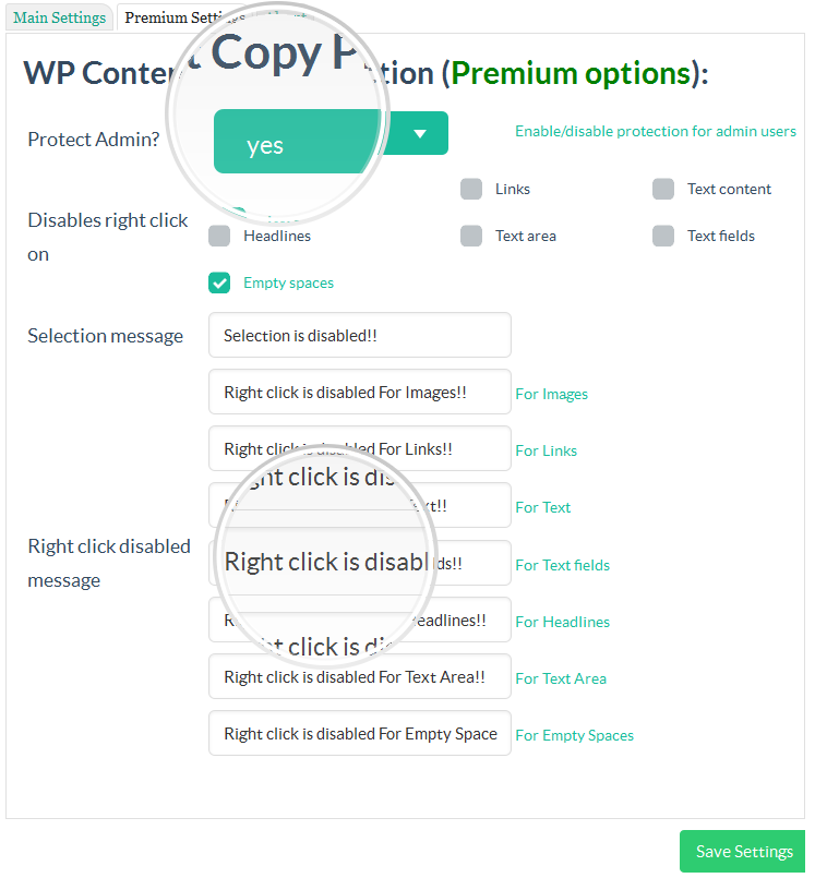 WP Content Copy Protection & No Right Click Download Free Wordpress Plugin 2