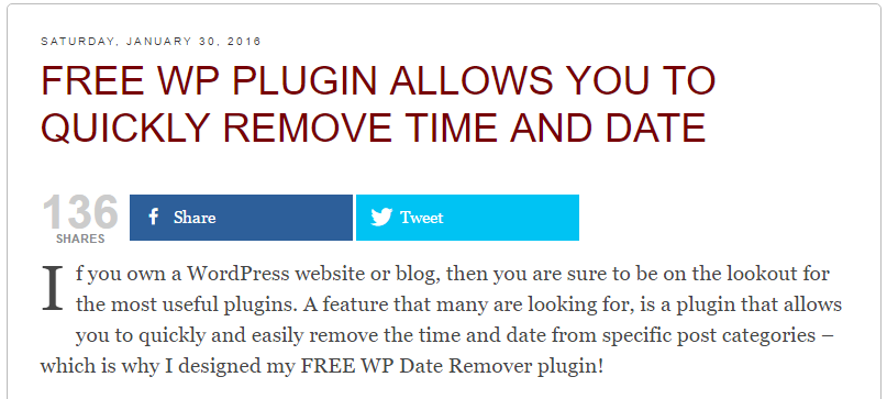 WP Date Remover Download Free Wordpress Plugin 5