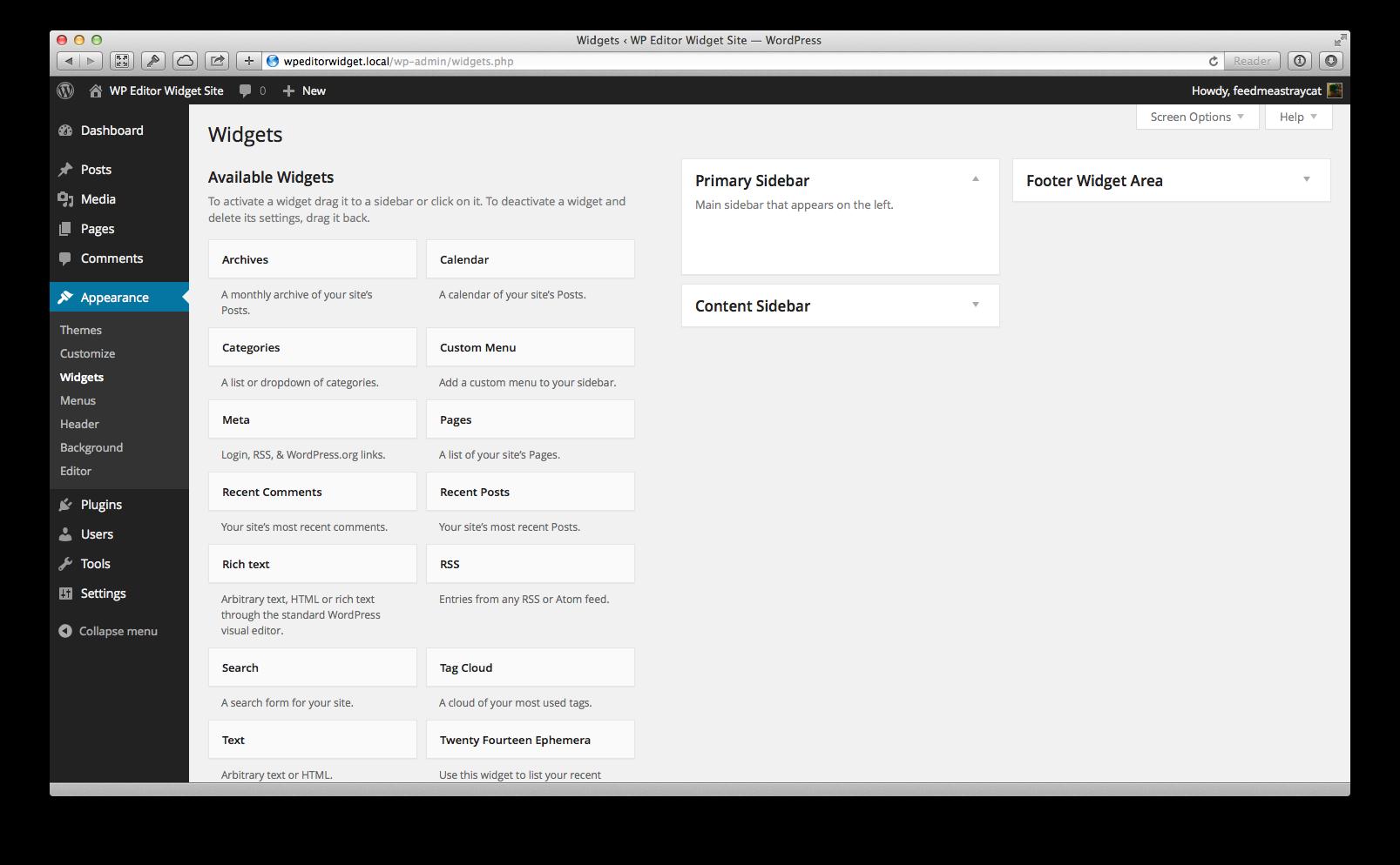 WP Editor Widget Download Free Wordpress Plugin 5
