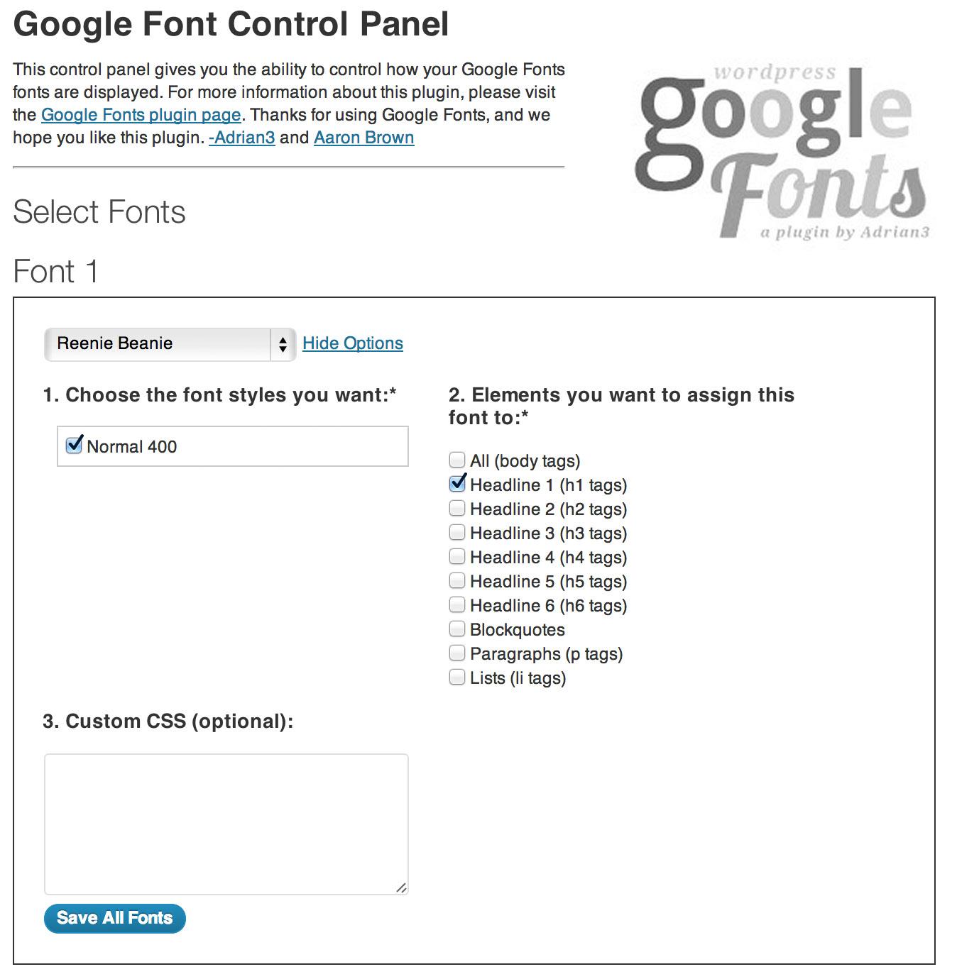 WP Google Fonts Download Free Wordpress Plugin 2