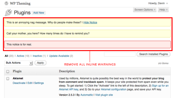 WP Hide Plugin Updates and Warnings Download Free Wordpress Plugin 1