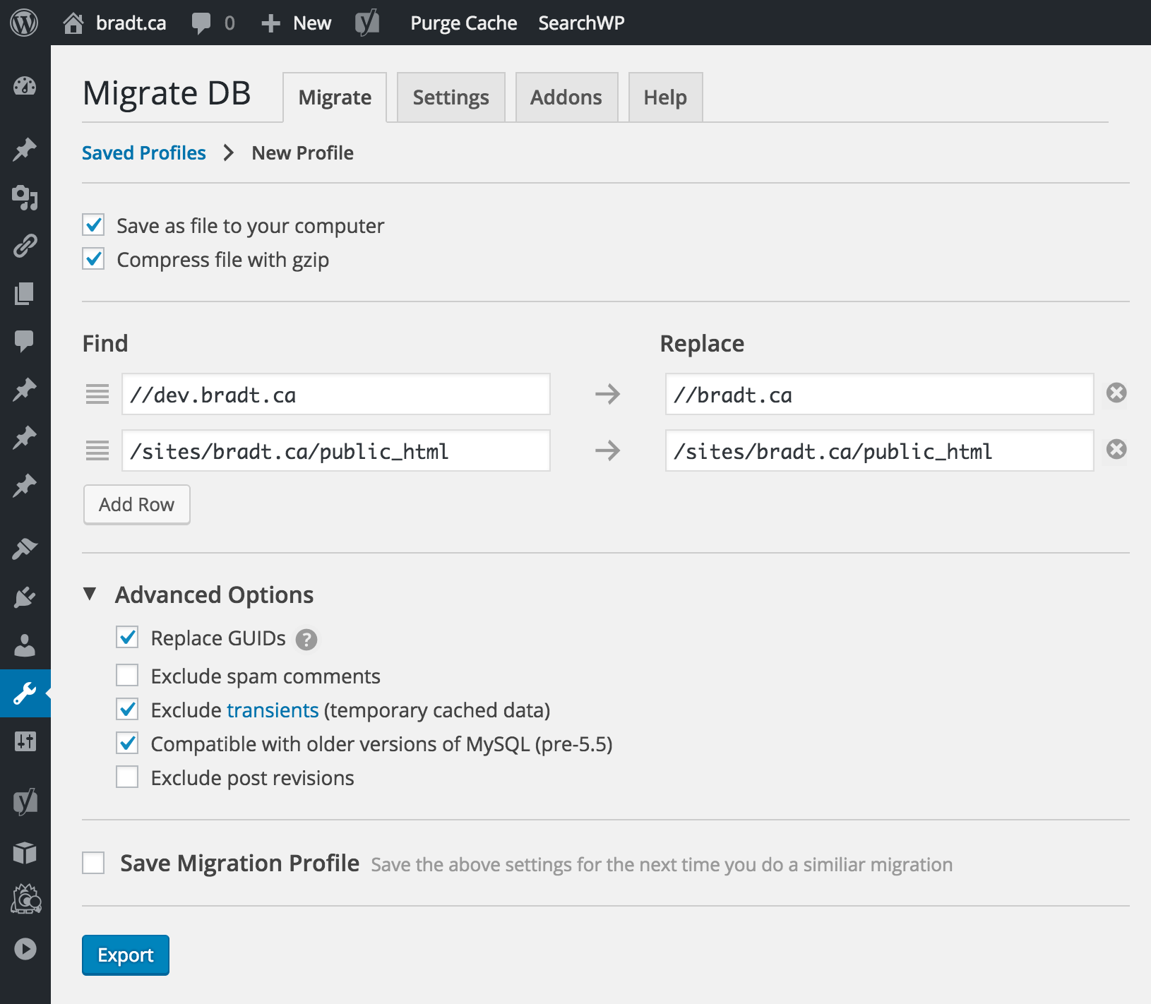 WP Migrate DB Download Free Wordpress Plugin 2