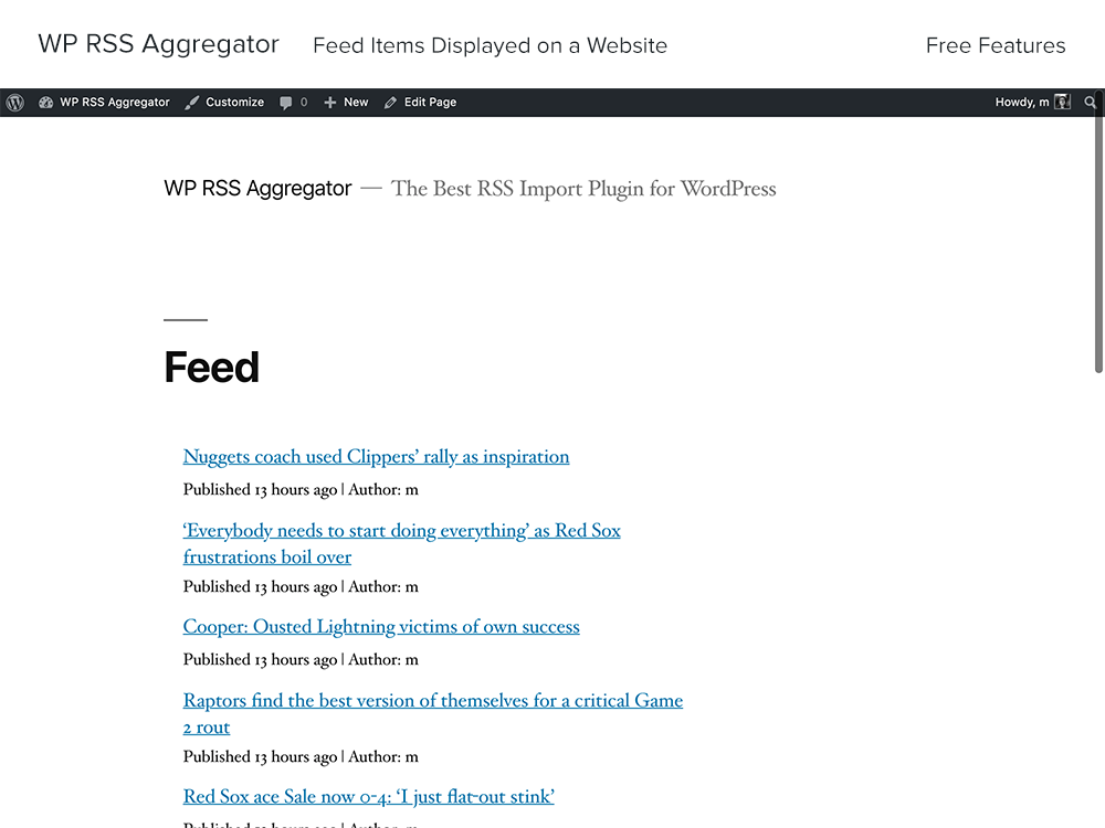 WP RSS Aggregator Download Free Wordpress Plugin 1