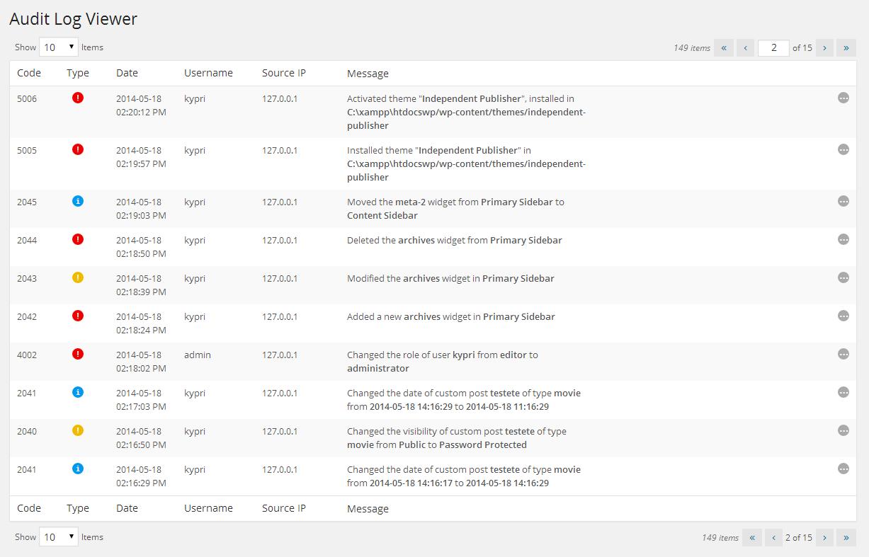 WP Security Audit Log Download Free Wordpress Plugin 5