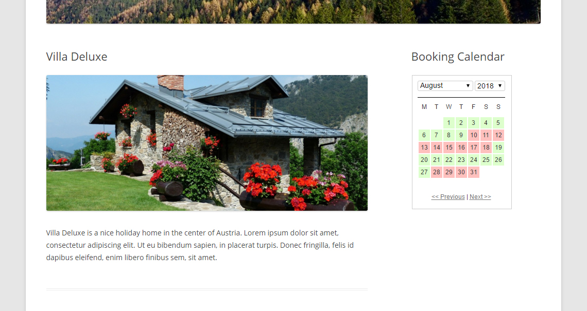 WP Simple Booking Calendar Download Free Wordpress Plugin 3