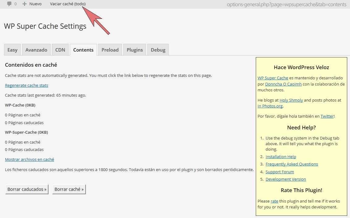 WP Super Cache – Clear all cache Download Free Wordpress Plugin 3