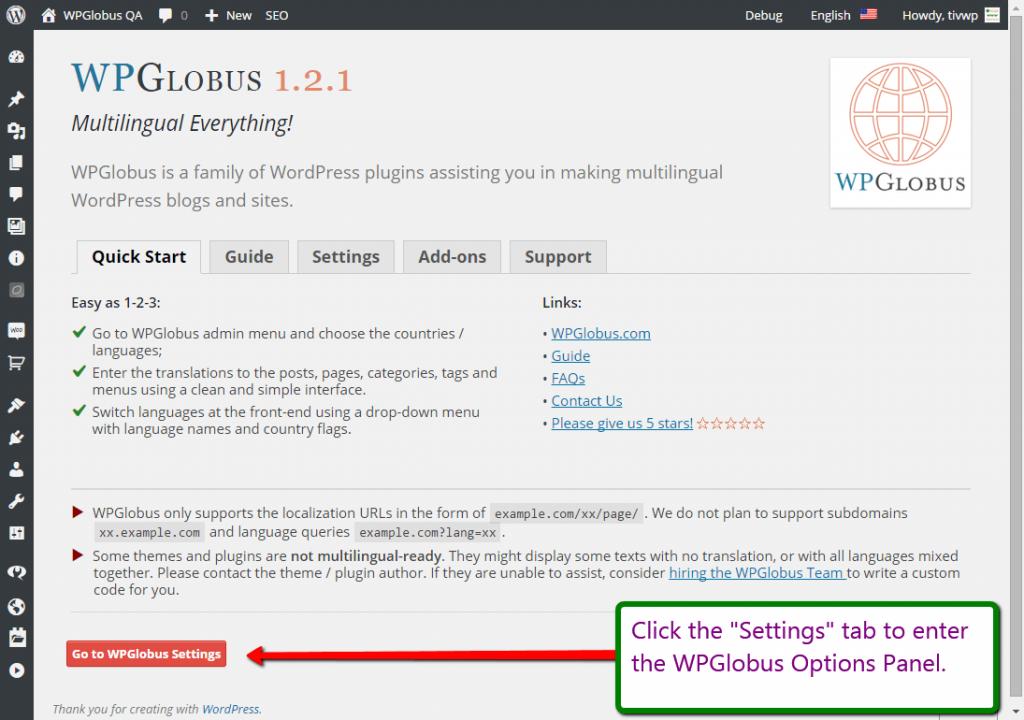 WPGlobus – Multilingual Everything! Download Free Wordpress Plugin 1