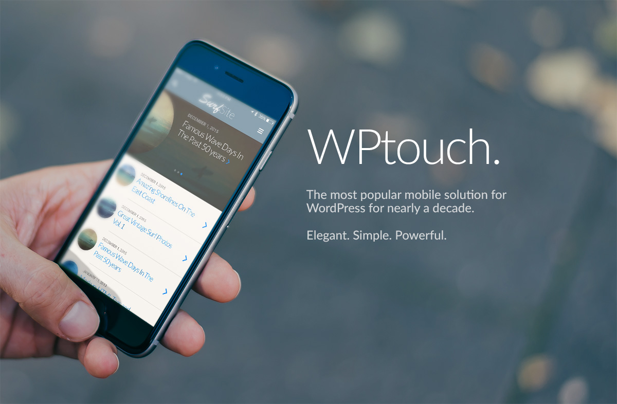 WPtouch Download Free Wordpress Plugin 4