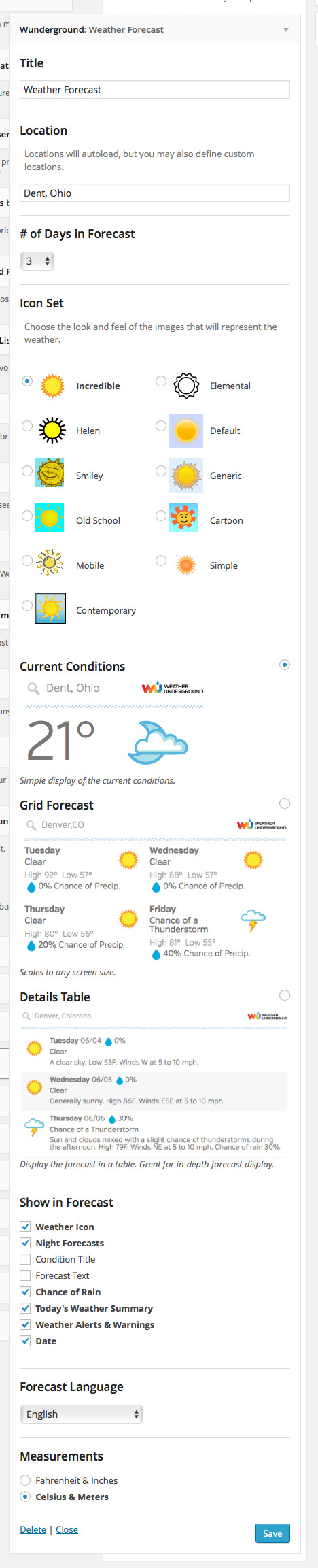 Weather Underground Download Free Wordpress Plugin 5