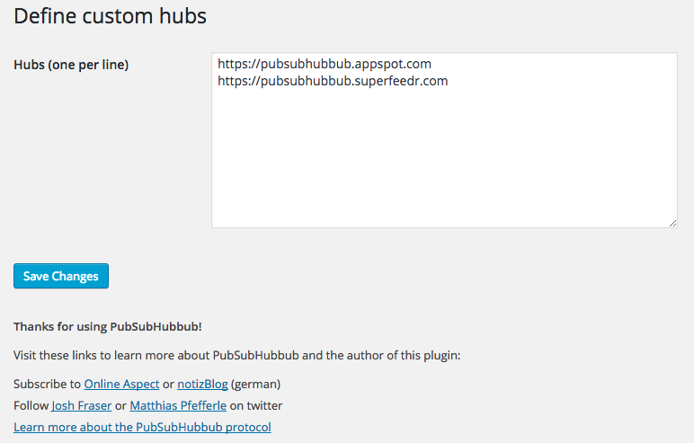 WebSub/PubSubHubbub Download Free Wordpress Plugin 2