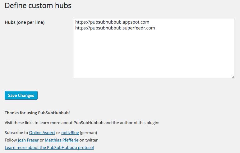 WebSub/PubSubHubbub Download Free Wordpress Plugin 1