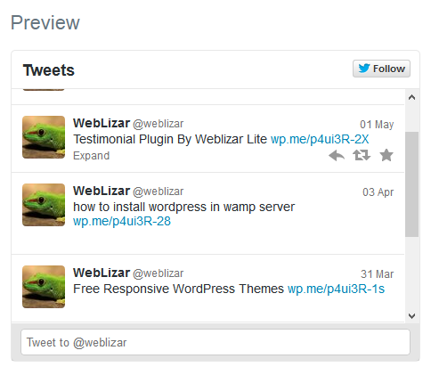 Weblizar Twitter Tweets Download Free Wordpress Plugin 4