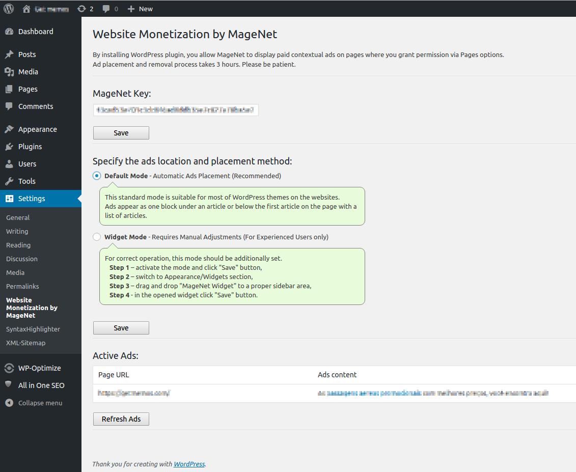 Website Monetization by MageNet Download Free Wordpress Plugin 1