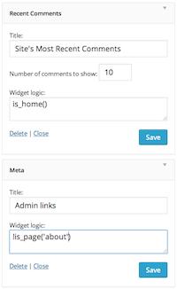 Widget Logic Download Free Wordpress Plugin 2