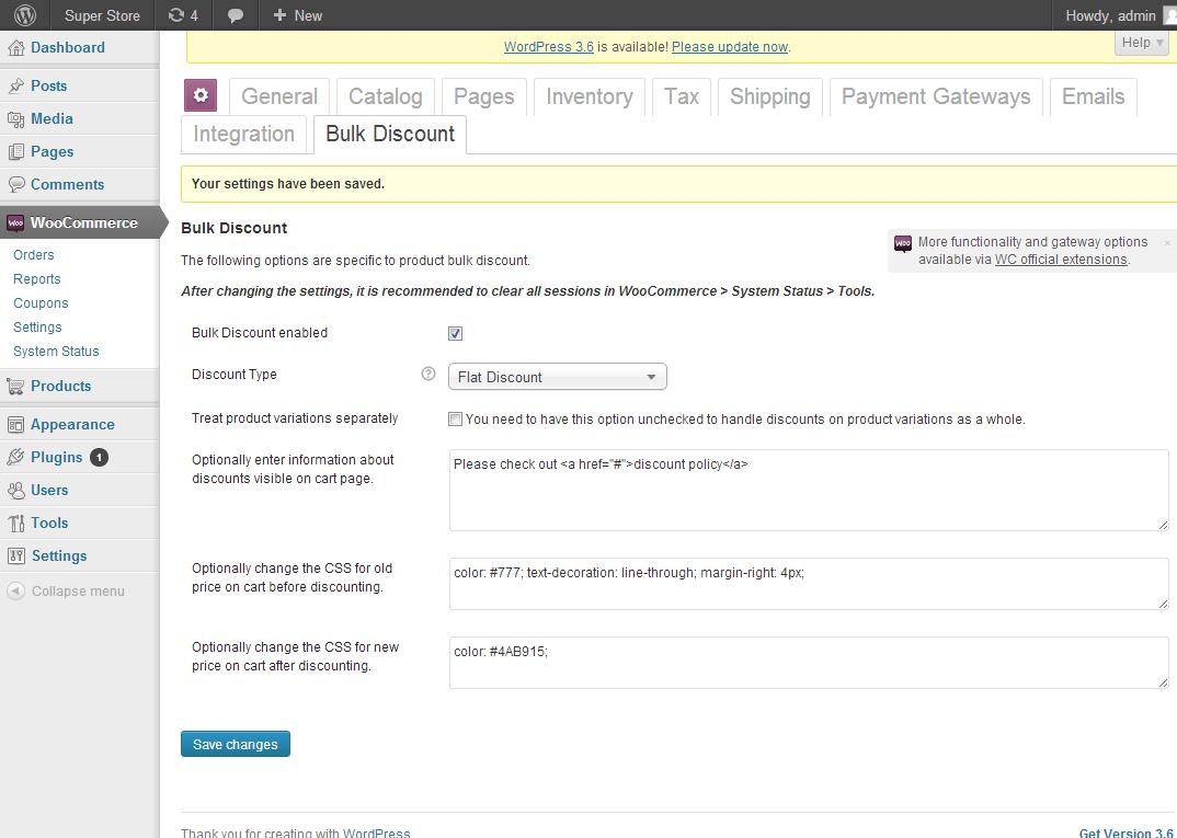 WooCommerce Bulk Discount Download Free Wordpress Plugin 4