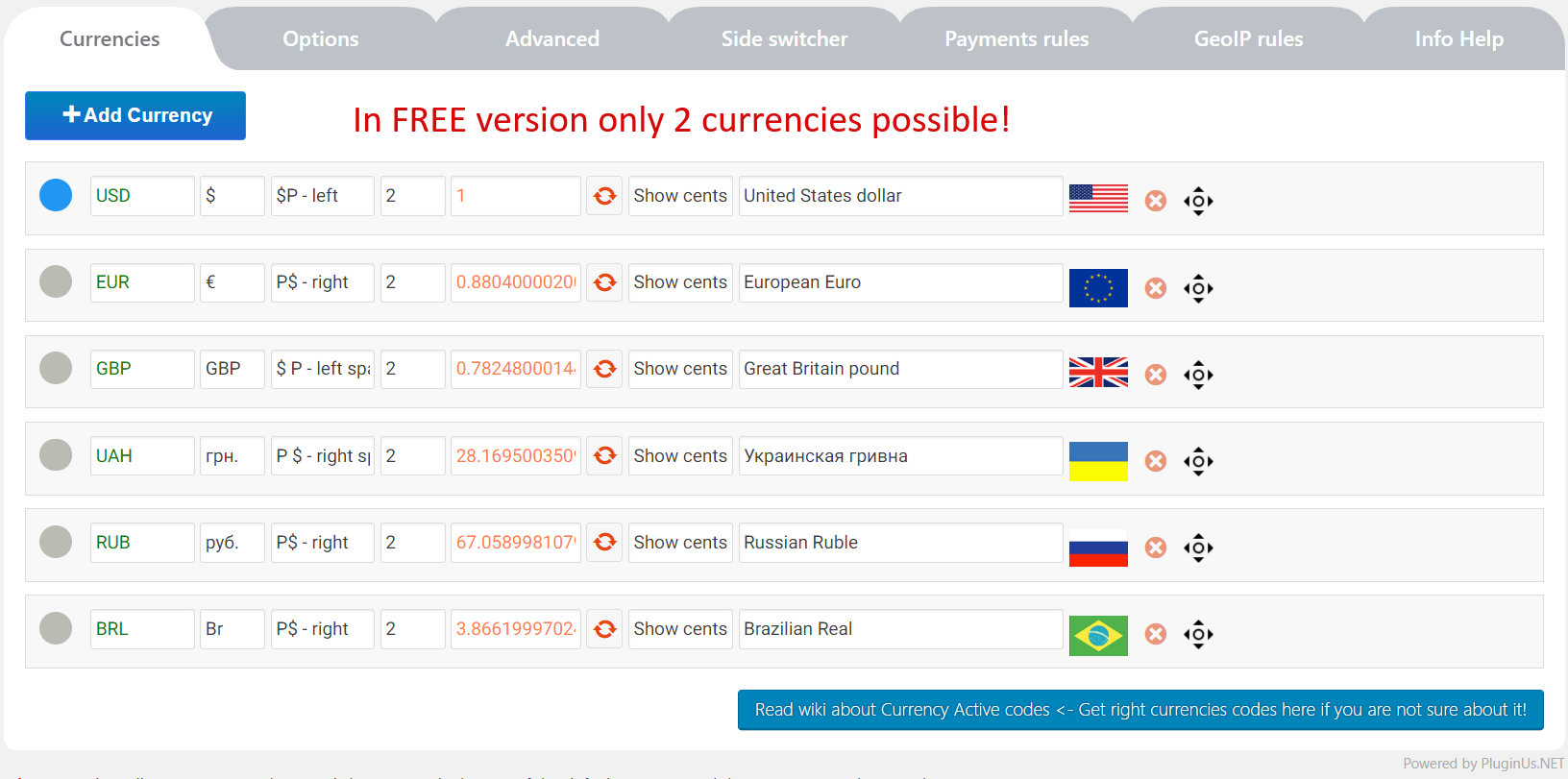 WooCommerce Currency Switcher Download Free Wordpress Plugin 1