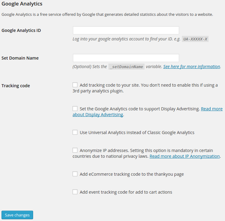 WooCommerce Google Analytics Integration Download Free Wordpress Plugin 2