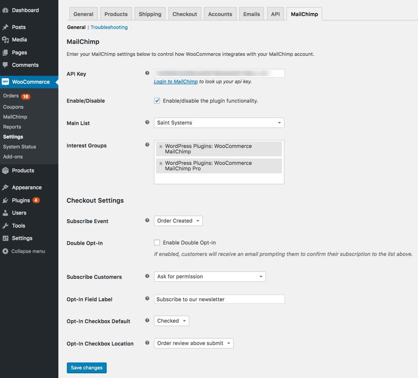 WooCommerce MailChimp Download Free Wordpress Plugin 5