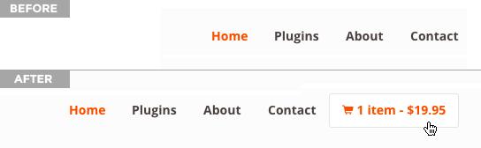WooCommerce Menu Cart Download Free Wordpress Plugin 3