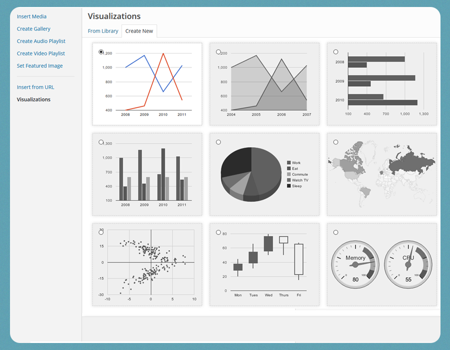 WordPress Charts and Graphs Lite Download Free Wordpress Plugin 1
