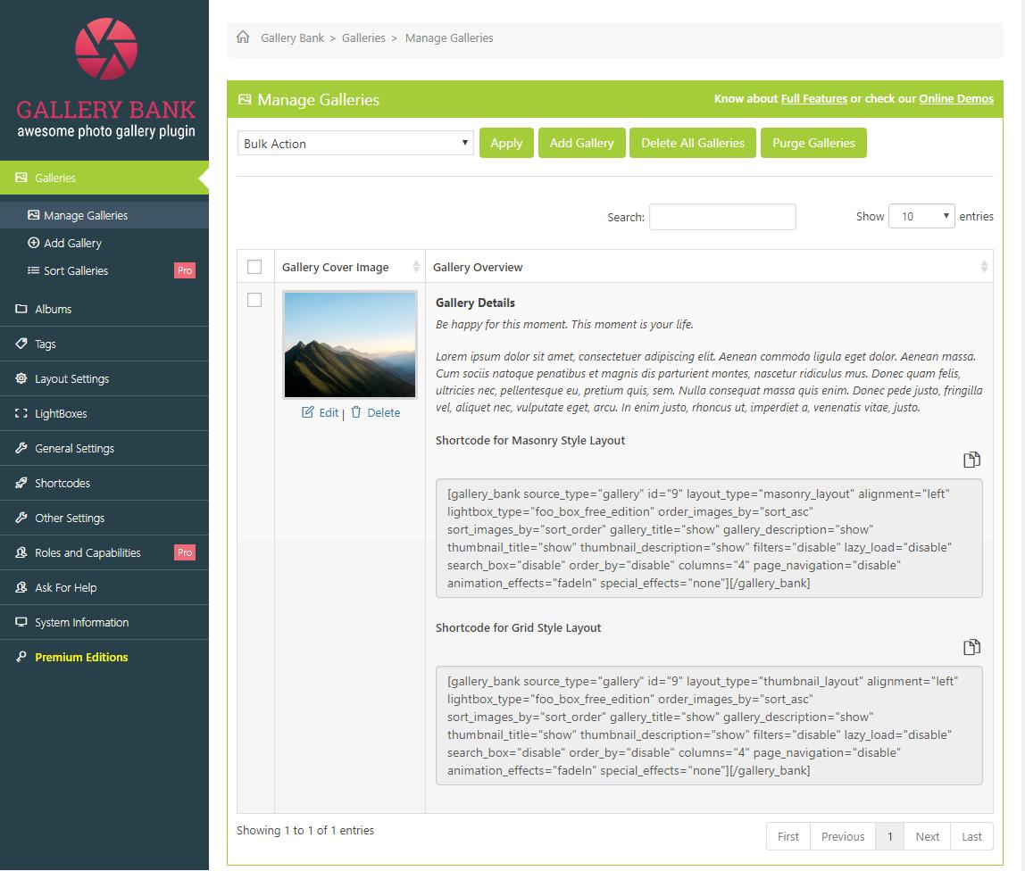 WordPress Gallery Plugin – Gallery Bank Download Free Wordpress Plugin 5