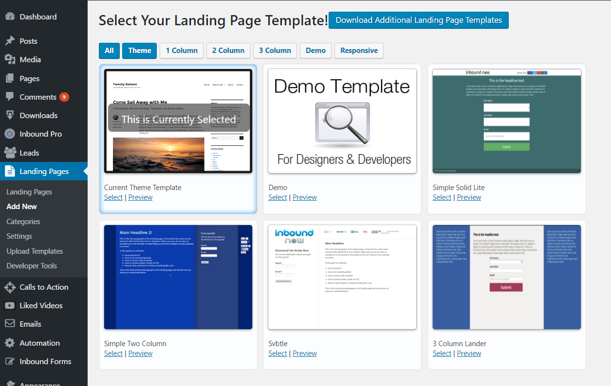 WordPress Landing Pages Download Free Wordpress Plugin 3