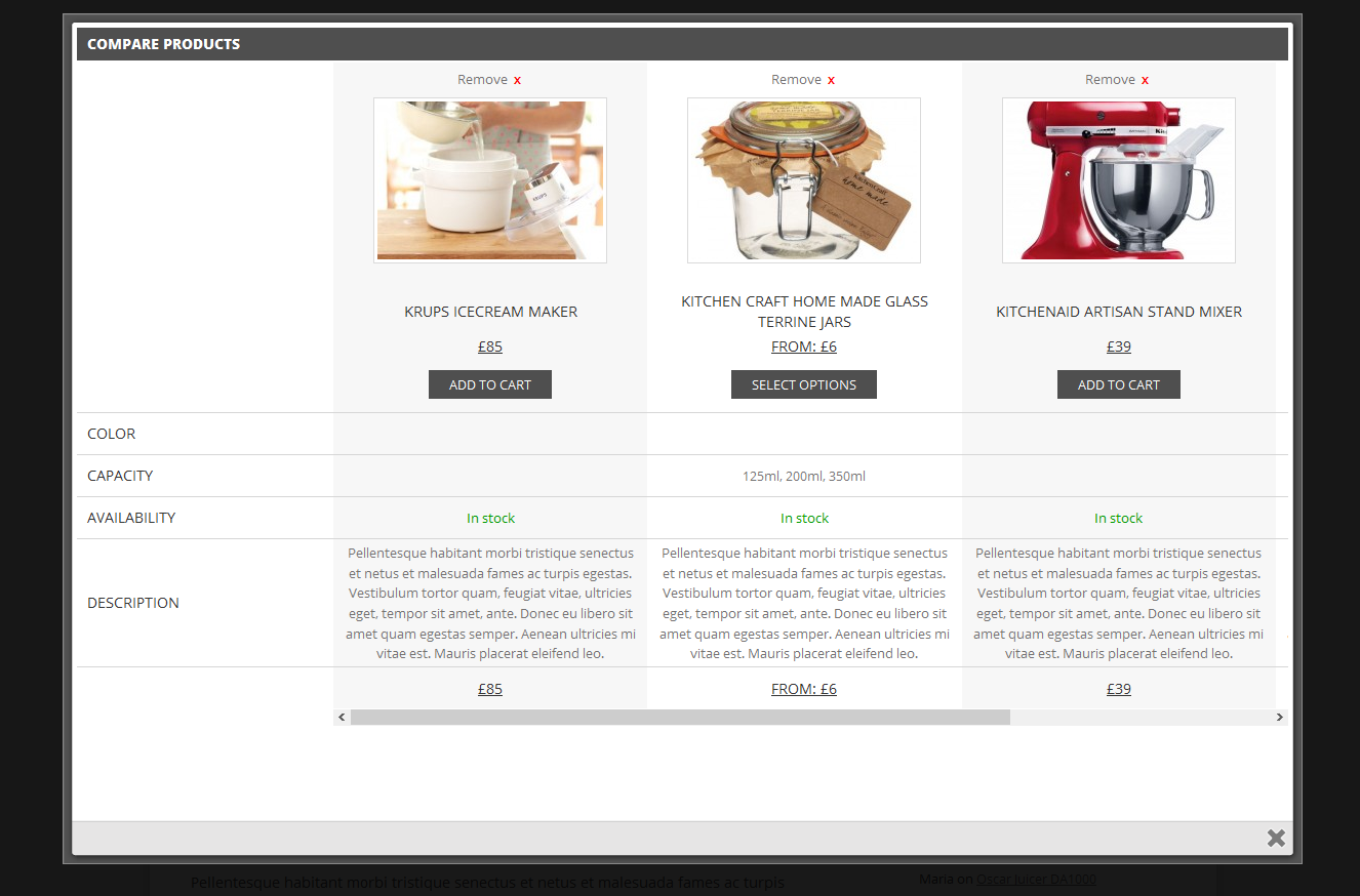 YITH WooCommerce Compare Download Free Wordpress Plugin 2