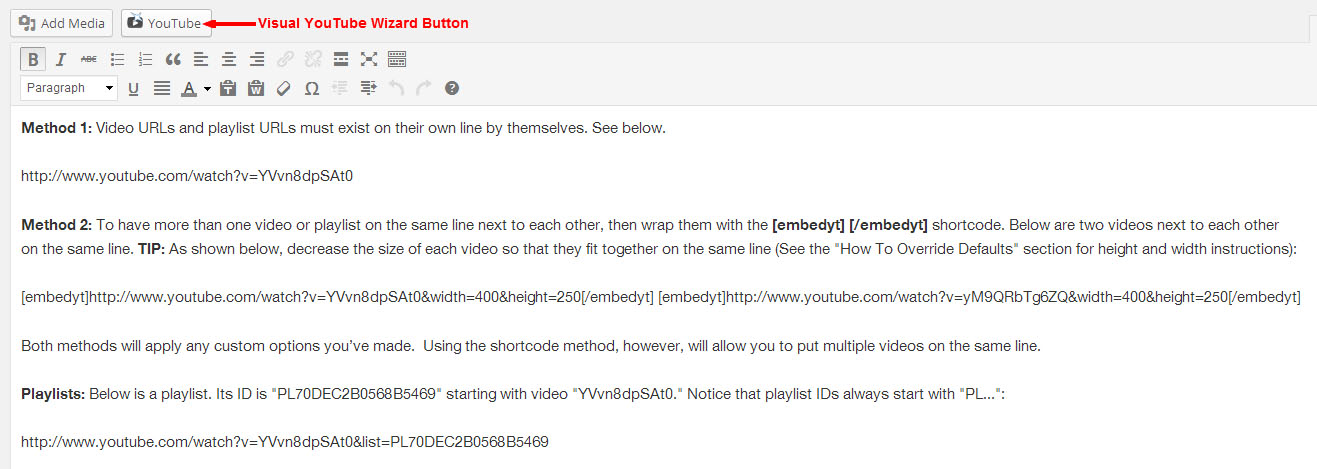 YouTube Download Free Wordpress Plugin 3