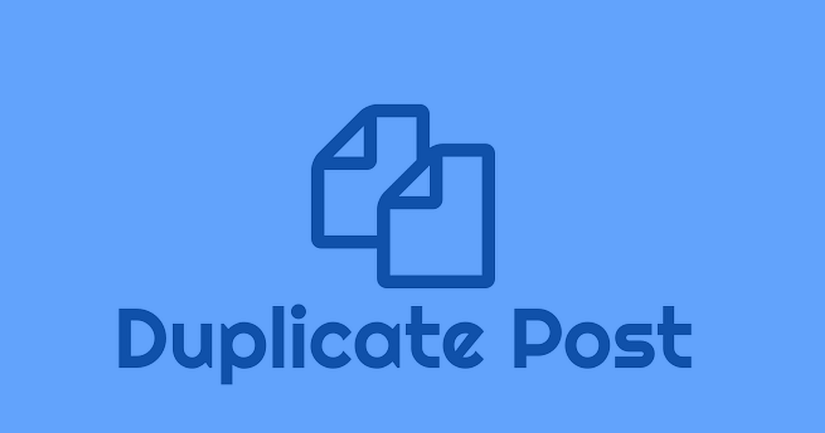 Duplicate Post Download Free WordPress Plugin