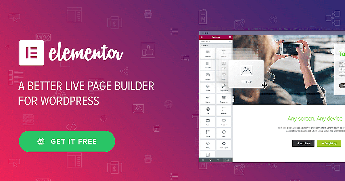Elementor Page Builder Download Free WordPress Plugin