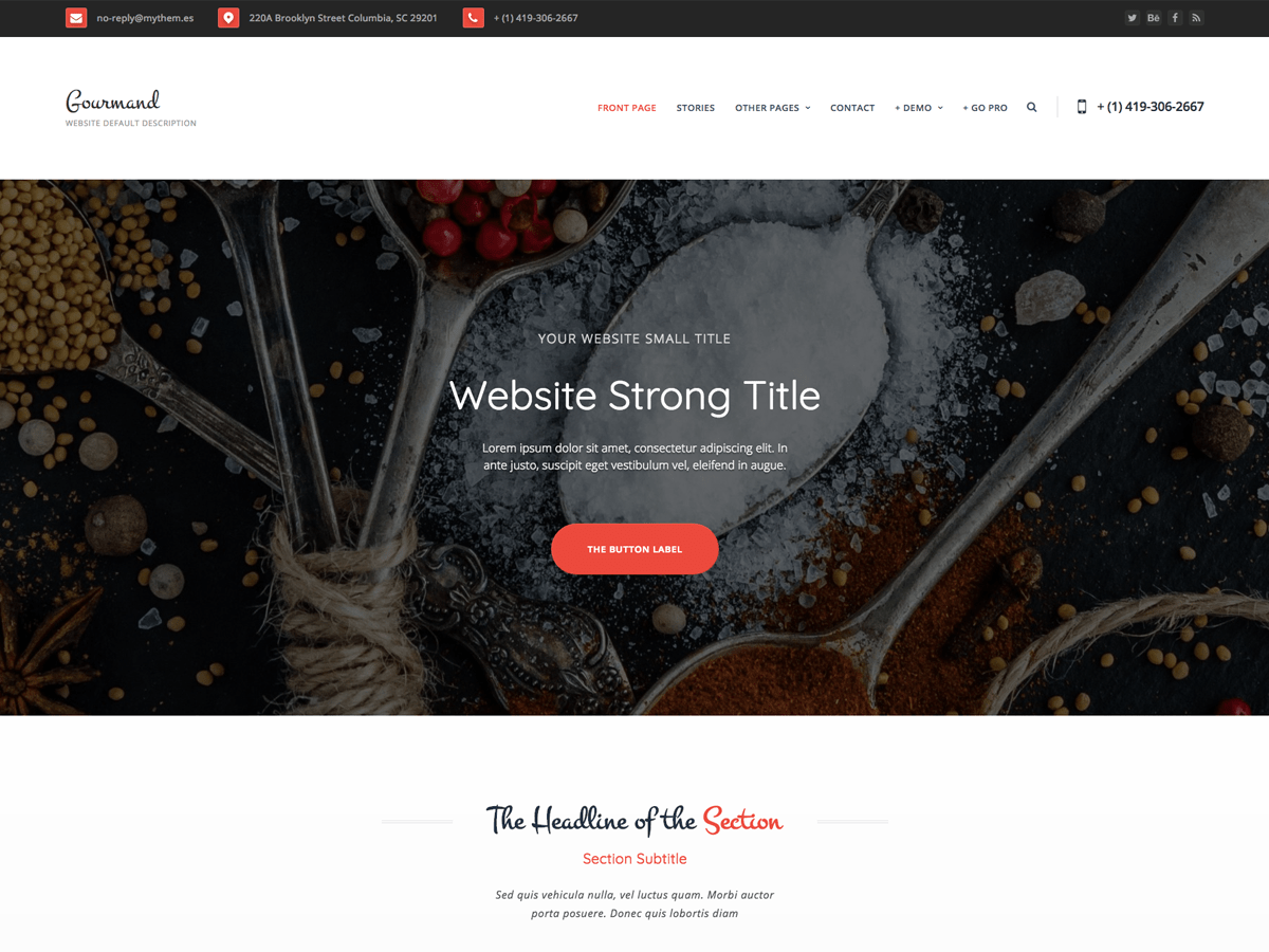 Gourmand Download Free Wordpress Theme 5