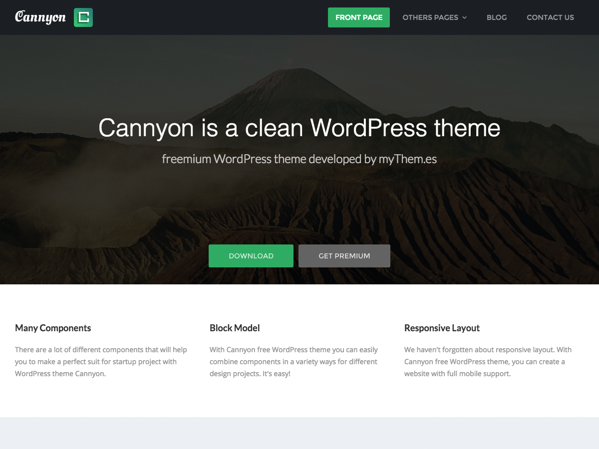 Cannyon Download Free Wordpress Theme 3
