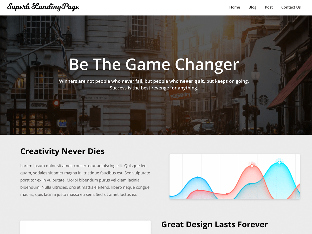 Superb Landingpage Download Free Wordpress Theme 2
